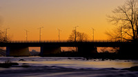 Champlain Bridge at Sunset